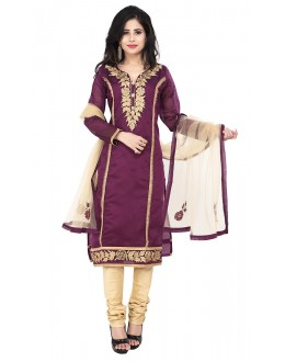 Party Wear Purple Readymade Salwar Suit  -  71339
