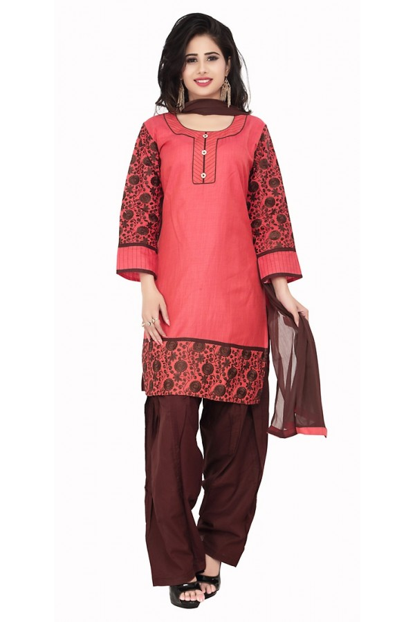 Party Wear Pink Readymade Salwar Suit  -  71341
