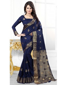 Party Wear Blue  Banarasi Silk Saree  - 71445