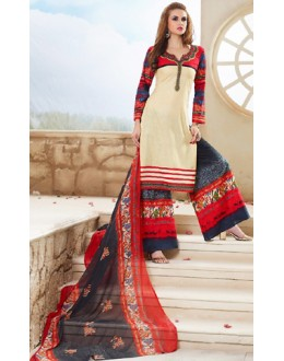 Party Wear Multicolour Cotton Palazzo Suit - 71467