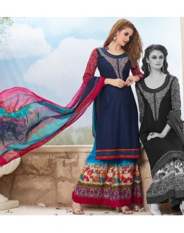 Party Wear Multicolour Cotton Palazzo Suit - 71469