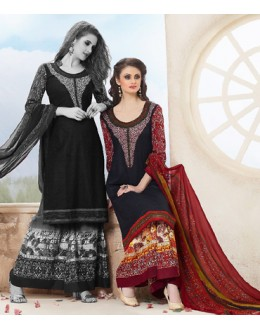 Party Wear Multicolour Cotton Palazzo Suit - 71470