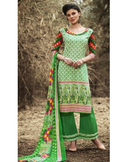 Party Wear Multicolour Cotton Palazzo Suit - 71511