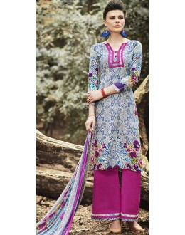 Party Wear Multicolour Cotton Palazzo Suit - 71513