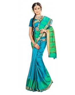 Traditional Multicolour Banarasi Silk Saree - 71659