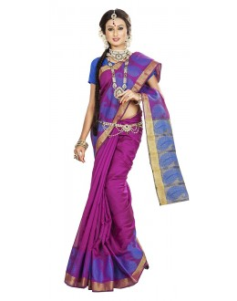 Traditional Multicolour Banarasi Silk Saree - 71665