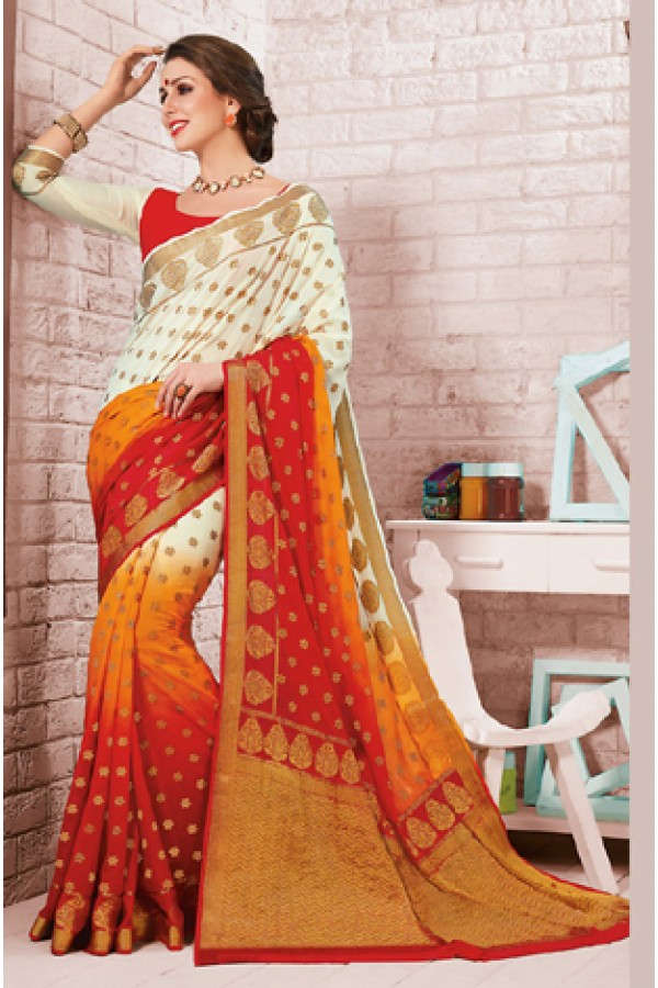 Casual Wear Multicolour Crepe Silk Saree - 72170
