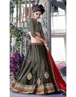 Designer Black & Red Lehenga Choli - 72251