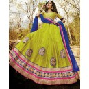 Traditional Green & Blue Lehenga Choli - 72229
