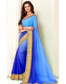 Party Wear Georgette Saree - 72274