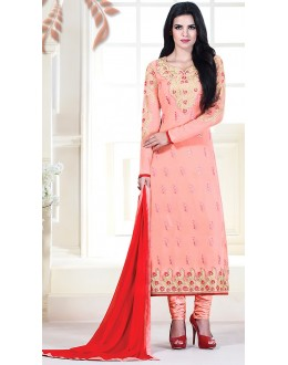 Party Wear Pink Georgette Salwar Kameez - 72302
