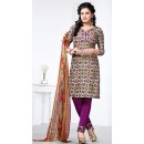 Casual Wear Multicolour Cotton Salwar Suit - 72425