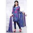 Casual Wear Multicolour Cotton Salwar Suit - 72426