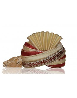 Ethnic Wear Cream Raw Silk Groom Turban - 72491