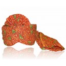 Traditional Red Georgette Groom Turban - 72497