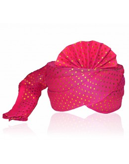 Traditional Pink Georgette Groom Turban - 72500