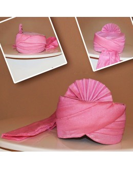 Traditional Pink Chanderi Silk Turban Groom - 72514