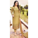 Party Wear Tan Brown Georgette Salwar Suit - 72618