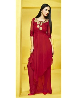 Fancy Readymade Red Georgette Kurti - 73102