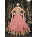 Traditional Pink Georgette Anarkali Suit - 73346