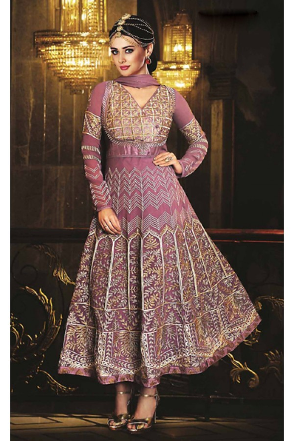 Bridal Fuchsia Georgette Anarkali Suit- 73536