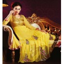 Ethnic Wear Yellow Georgette Anarkali Suit- 73543