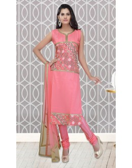 Office Wear Readymade Pink Churidar Suit - 73953