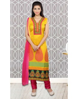 Ethnic Wear Readymade Yellow Salwar Suit - 73955