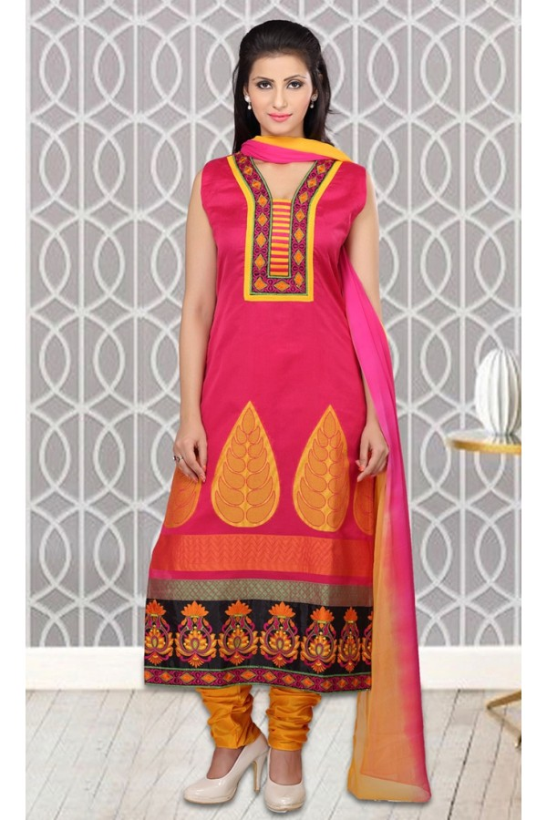 Festival Wear Readymade Pink Salwar Suit - 73956