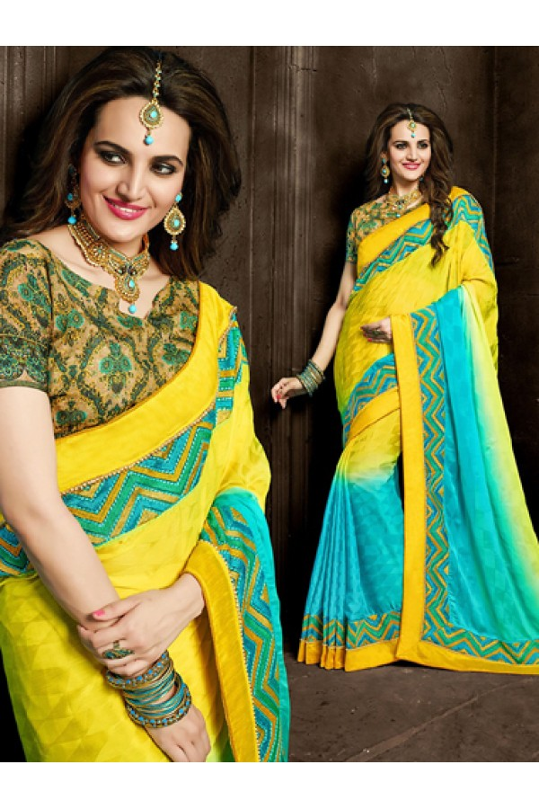 Ethnic Wear Multicolour Cerpe Silk Saree  - 73867