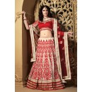 Ethnic Wear Off White & Red Net Lehenga Choli - 73990