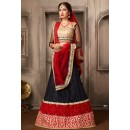 Navratri Special Black & Red Net Lehenga Choli - 74057