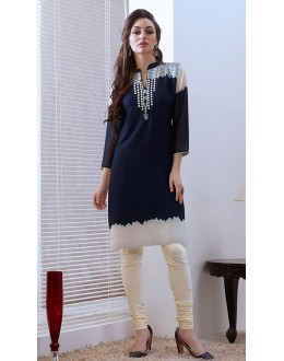 Office Wear Readymade Blue Georgette Kurti - 74186