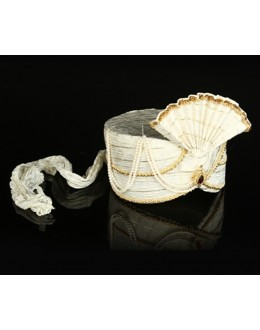 Traditional White Net Groom Turban - 74670
