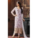 Office Wear Lavender Jacquard Salwar Suit  - 74746