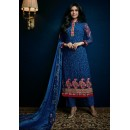 Ethnic Wear Navy Blue Georgette Salwar Suit - 74753