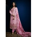 Ethnic Wear Pink Georgette Salwar Suit - 74757