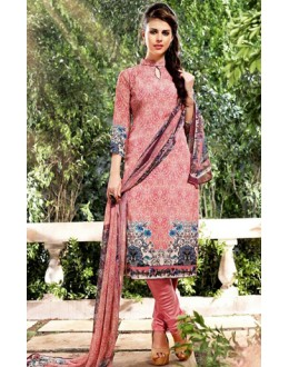 Party Wear Pink Georgette Salwar Suit  - 75022