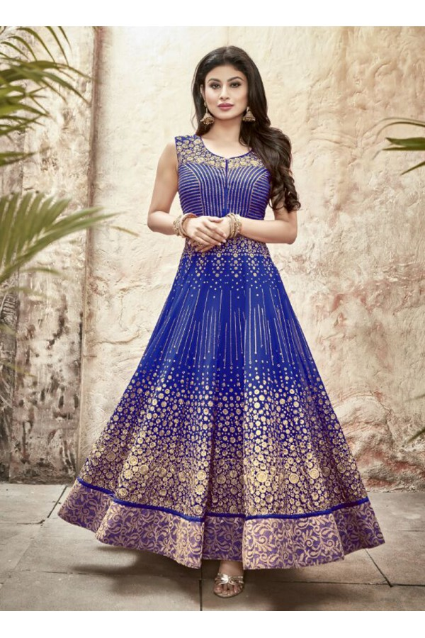 Party wear Blue Georgette Salwar suit - 69999