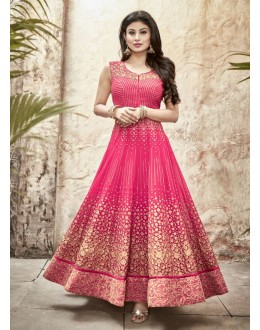 Party wear Pink Georgette Salwar suit -70001