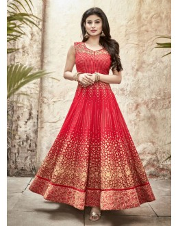 Party wear Red Georgette Salwar suit -70000