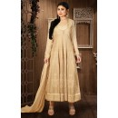 Moni Ray Beige Georgette Embroidered Anarkali Suit - 76024