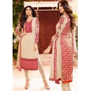 Festival Wear Beige & Red Georgette Salwar Suit  - 76051