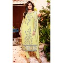 Shilpa Shetty In Yellow Georgette Salwar Suit  - 76055