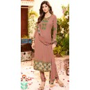 Shilpa Shetty In Brown Georgette Salwar Suit  - 76056