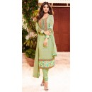 Shilpa Shetty In Green Georgette Salwar Suit  - 76058
