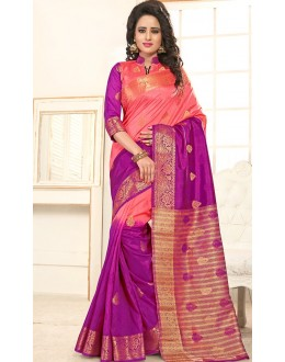 Festival Wear Pink Banarasi Silk  Saree  - 76309