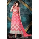 Festival Wear Pink Georgette Anarkali Suit - 76862