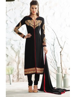 Party Wear Black Georgette Salwar Suit  - 77022