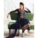 Festival Wear Navy Blue Georgette Salwar Suit  - 77027